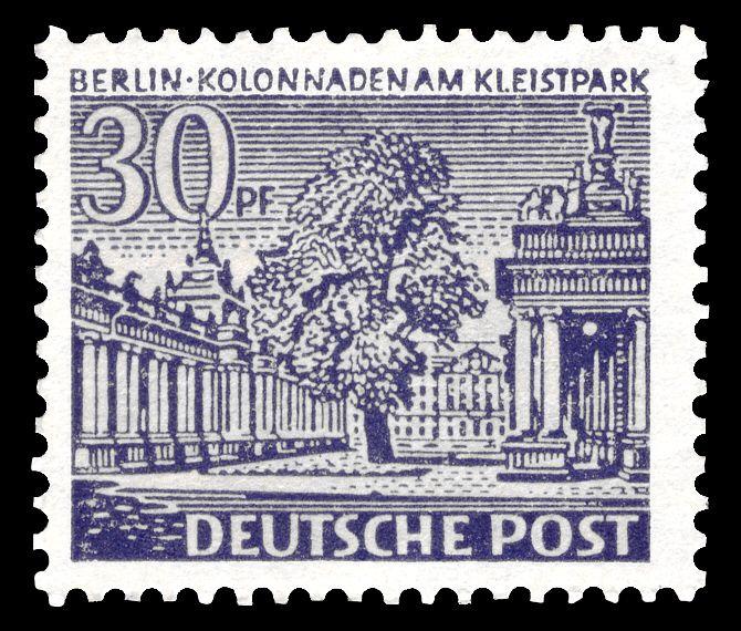 DBPB 1949 Berliner Bauten Briefmarken der Deutschen Post