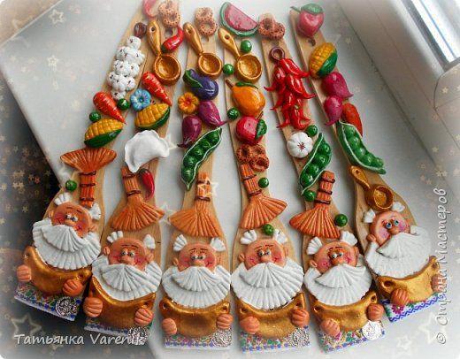 Декор предметов Лепка Сувенирная лопатка - оберег Гуашь Дерево Клей Тесто соленое фото 1