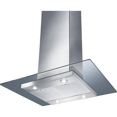 Smeg KEIV90E 90cm Island Cooker Hood With Flat Glass Canopy Stainless Steel