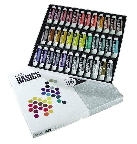 Liquitex Basics Acrylset 36 tubes 22 ml