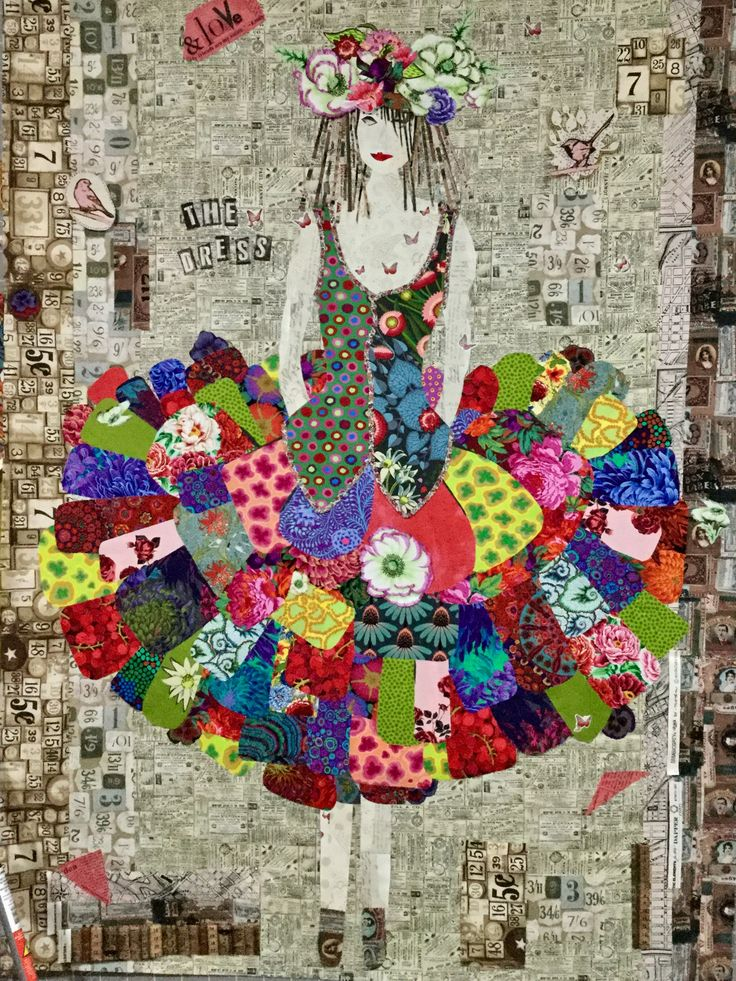 Laura Heine The Dress Appliqu 233 Fiber Art Quilts