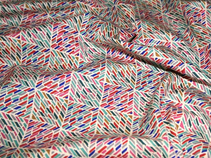 Patterned Cotton Poplin Dress Fabric Cream | Fabric | Dress Fabrics | Minerva Crafts