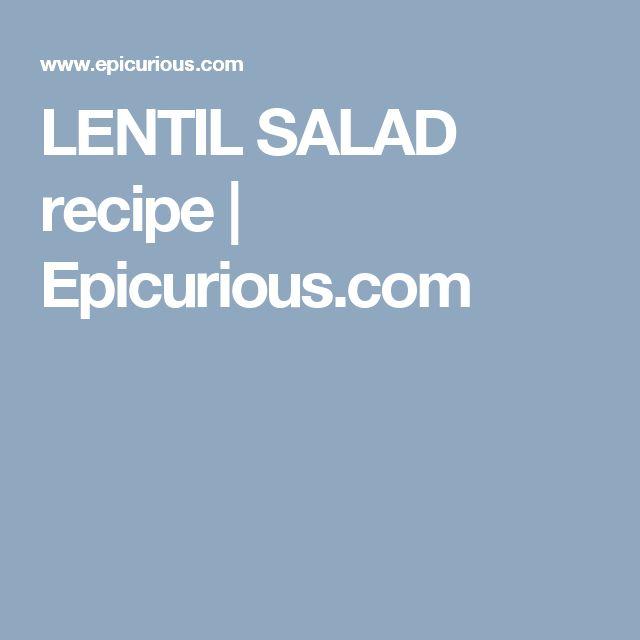 LENTIL SALAD recipe   Epicurious.com