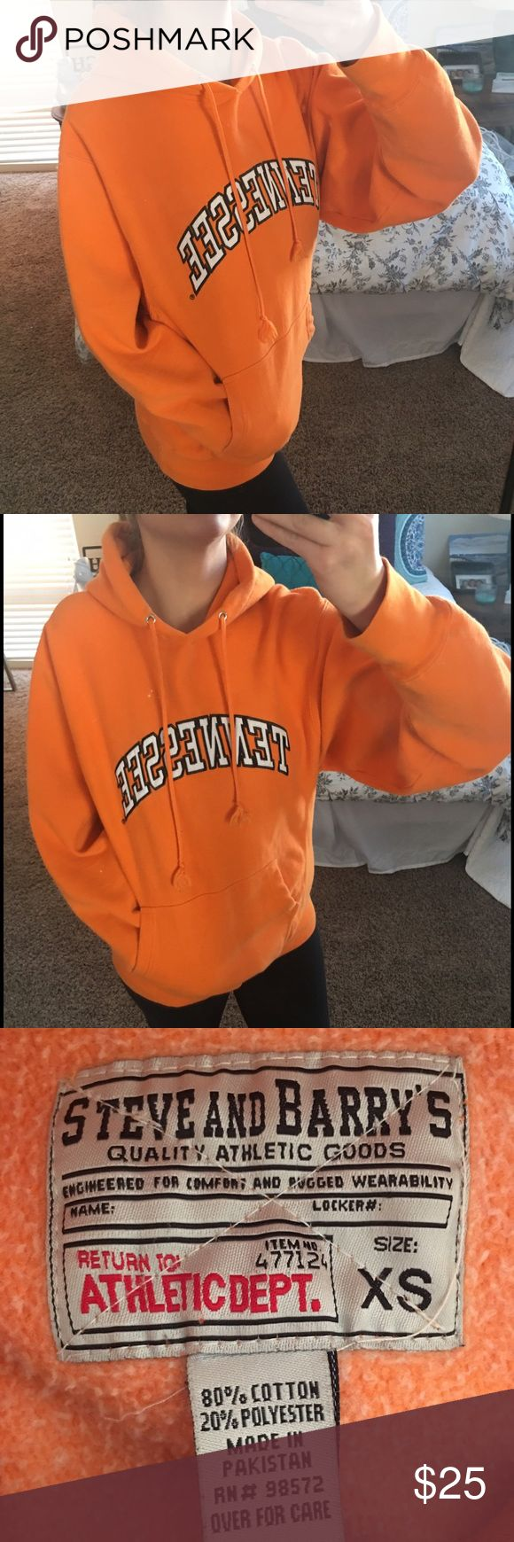 Tennessee Sweatshirt. Size XS but fits VERY LOOSE! 🍁🍁 Are you game day ready?! This University of TN sweatshirt will get you in the mood to tailgate in no time!! Size XS. Super comfy and great for those chilly fall days!  🍁🍁 Tops Sweatshirts & Hoodies