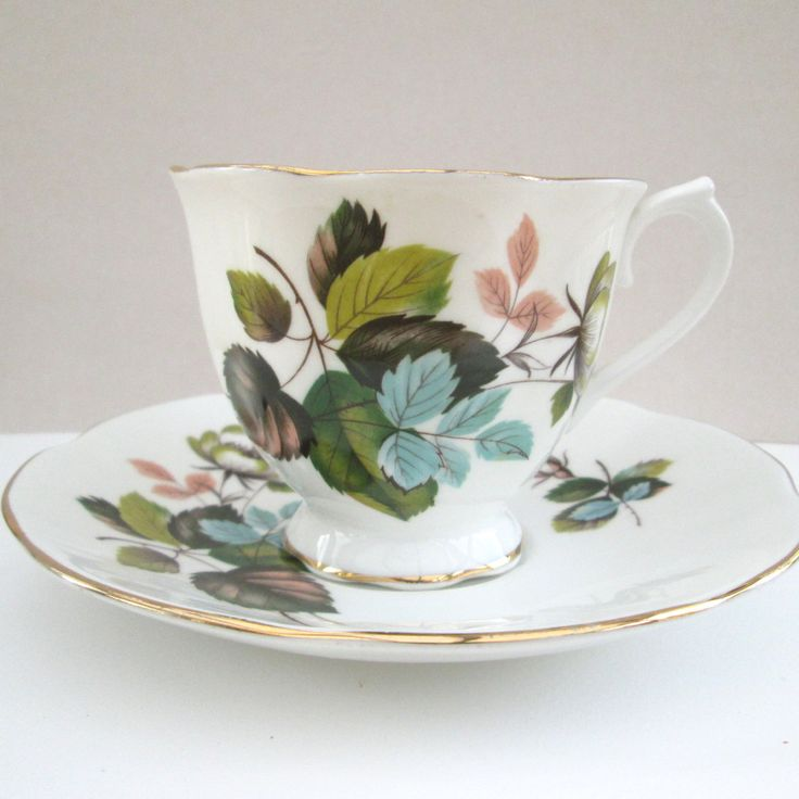 Tea cup planter ~ Repurposed Upcycled recycled vintage china tea cup and saucer, ceramic plant pot, unusual gift for Mum's birthday Get Well by BlueBoxStudio on Etsy