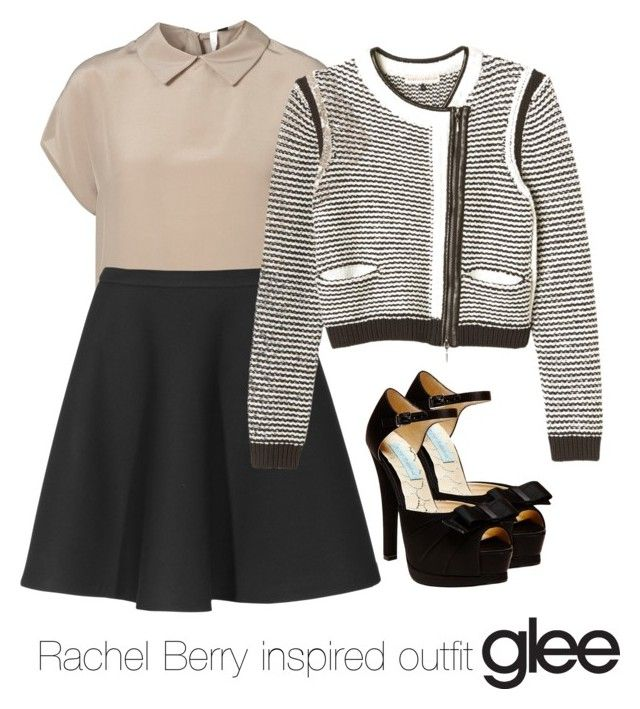 """""""Rachel Berry inspired outfit/Glee"""" by tvdsarahmichele ❤ liked on Polyvore featuring mode, Betsey Johnson, Neil Barrett, Rebecca Taylor, rachelberry, glee et leamichele"""