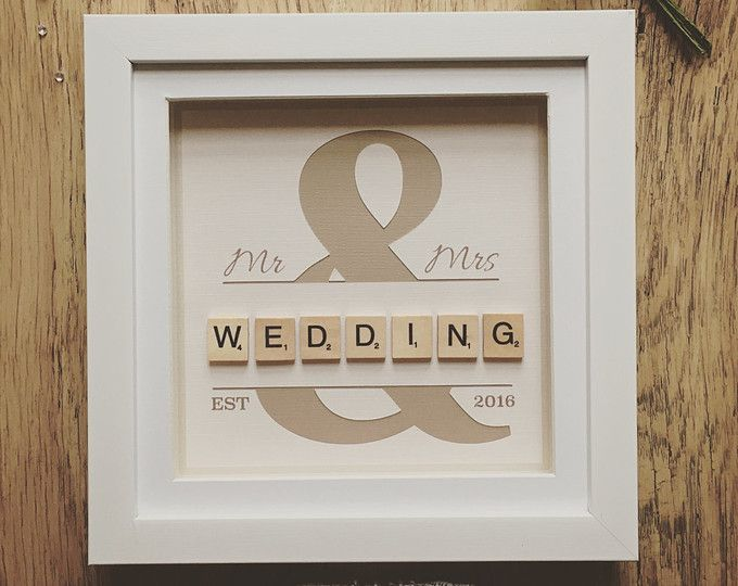 Wedding Scrabble Frame, Scrabble Wall Art, Personalised, Wedding Gift, Personalised Frame, Engagement Gift, Wedding Present, Gift, Handmade,