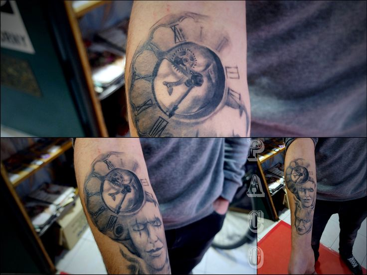 Real clock Tattoo    Realistic tattoo  https://www.facebook.com/Tattoolyon/photos/a.386262874795461.94930.386231314798617/984505428304533/?type=3&theater