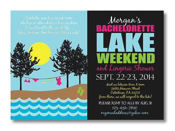 Printable Bachelorette Invitation #lake #weekend