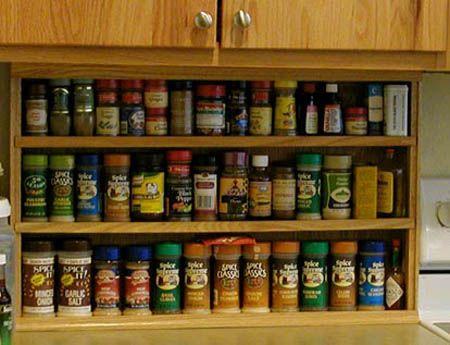 Modern Kitchen Accessories for Spices Storage, Contemporary Spice Organizer