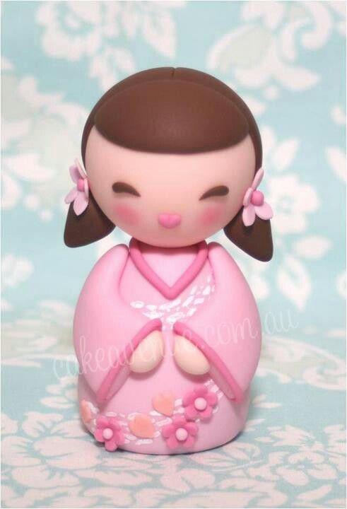 geisha en pâte d'amande / marzipan geisha girl