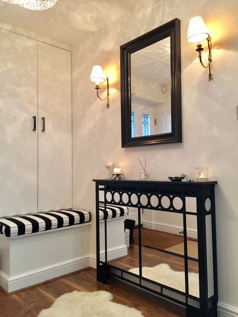 Awesome Mirrored Hallway Cabinet