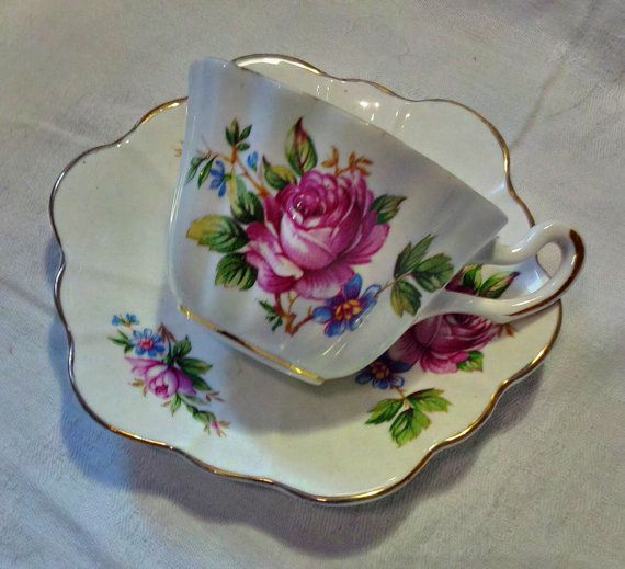 Vintage Royal Stuart Bone China Tea by WoodsHarbourTeaRoom on Etsy
