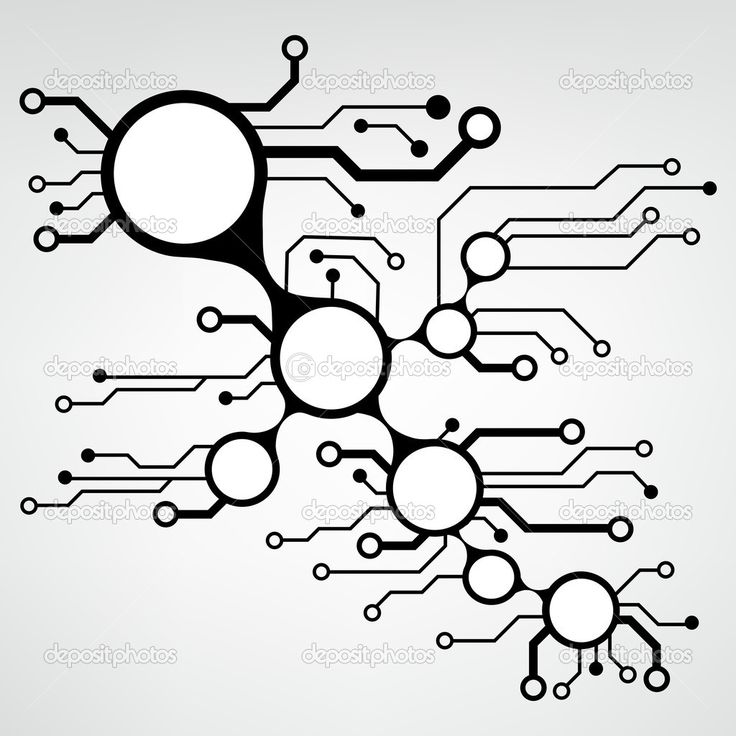 u0410bstract circuit board techno background  eps10 vector