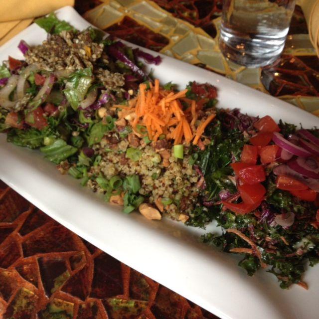 Sprouted Chia salad at Noorish in Edmonton