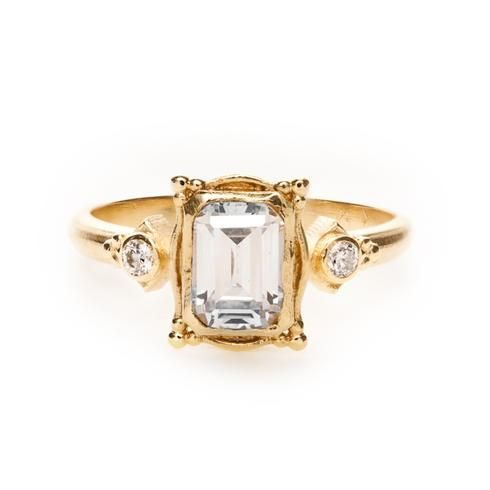 My fave: Megan Thorne Picture Frame Engagement Ring. This beautiful 18k yellow