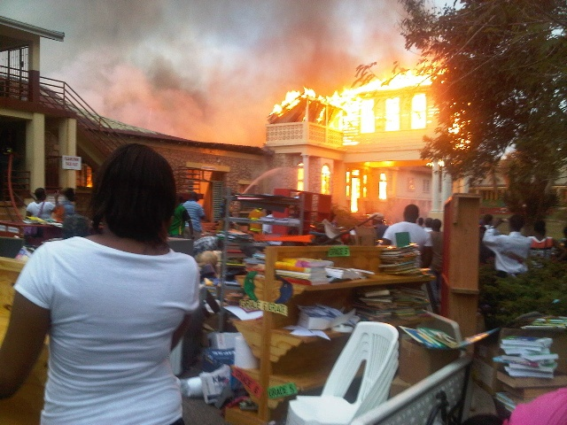 Pls. consider donating books to this school library in Jamaica that was recently burned down!