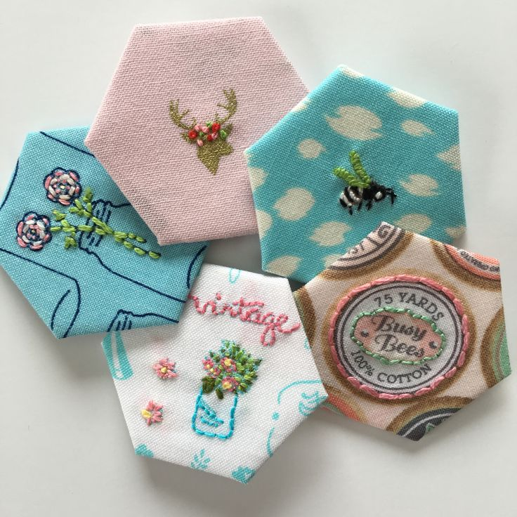 Embellished Hexies Tutorial @ I Quilt Sew What