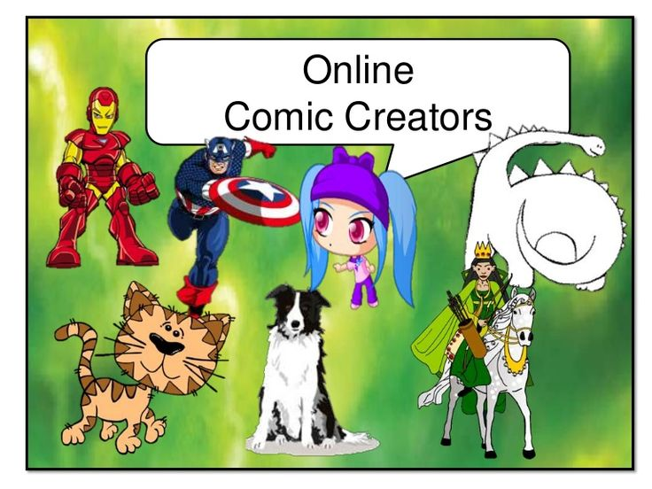 Online Comic Creators      This presentation offers ideas on how to use comics in the classroom and a list of online comic creators       http://www.slideshare.net/shend5/online-comic-creators-10194061