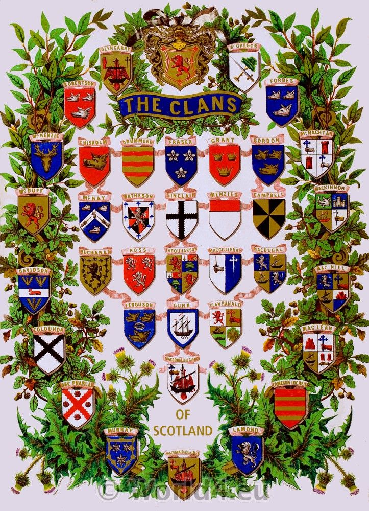 Heraldry-Scottish-Clans, My great grandfather was from clan Gordon, not a lot of blood, but still.