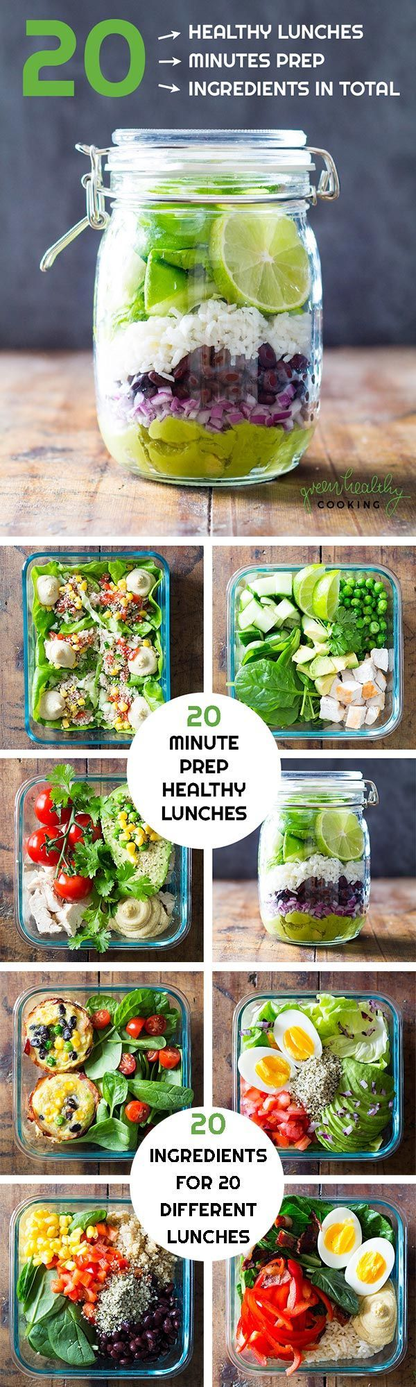 TWENTY is an e-Book offering 20 healthy lunch recipes prepared in maximum 20 minutes each and with only 20 ingredients in total for all 20 recipes.