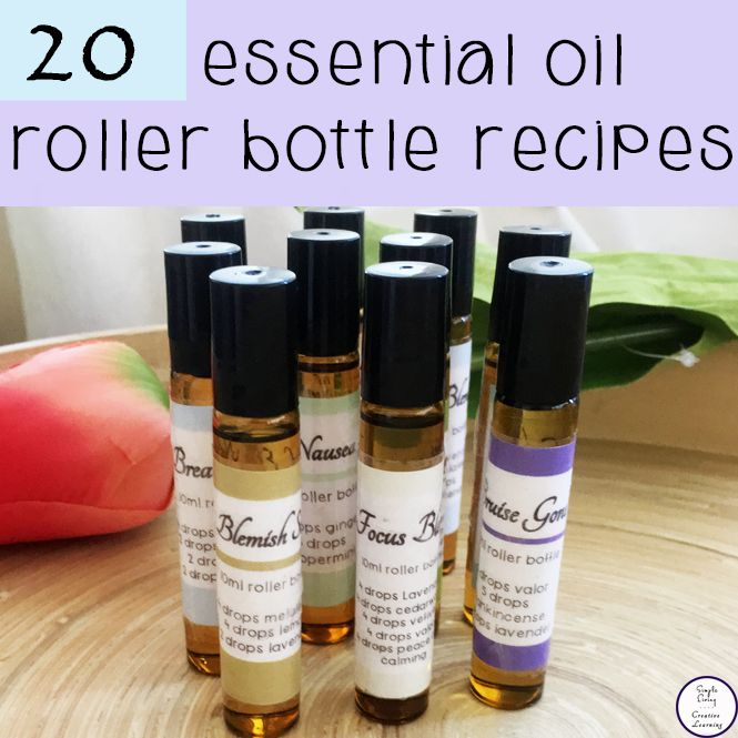 Roller bottles make topical application of essential oils simple. This is a collection of 20 Essential Oil Roller Bottle Recipes that I always have on hand.