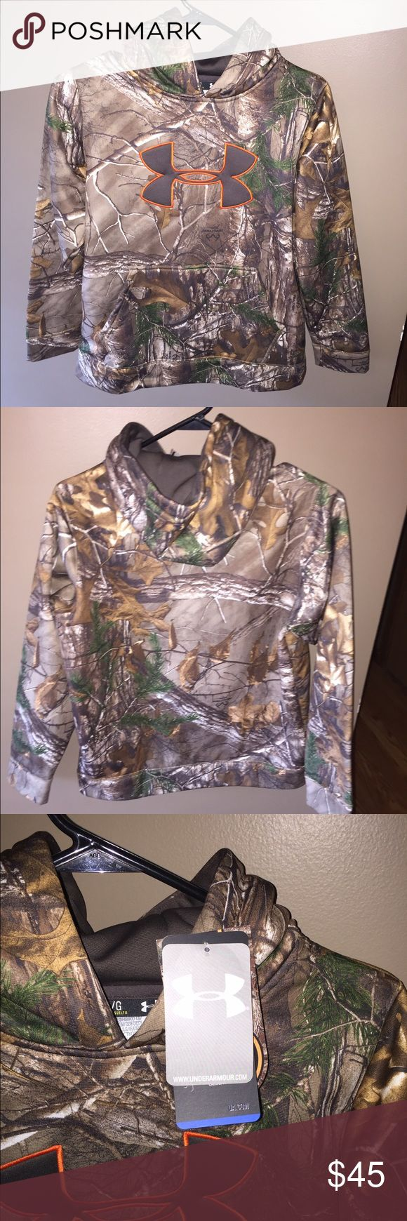 1 DAY SALE 🎈YOUTH UNDER ARMOUR CAMO HOODIE SIZE L This is a new with tags youth Underarmour hoodie. Under Armour Shirts & Tops Sweatshirts & Hoodies