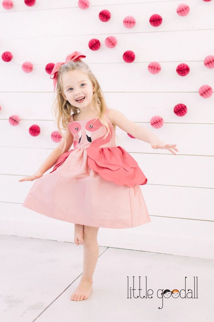 Our dazzling girls Pink Flamingo Dress is destined to be the life of