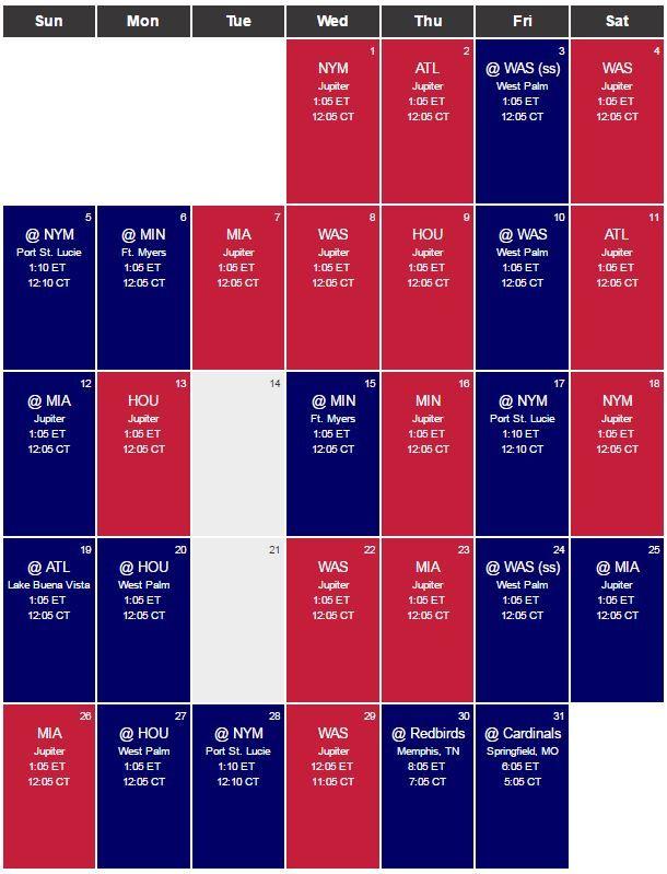 Cardinals Release 2017 Spring Training Schedule | Cards Diaspora