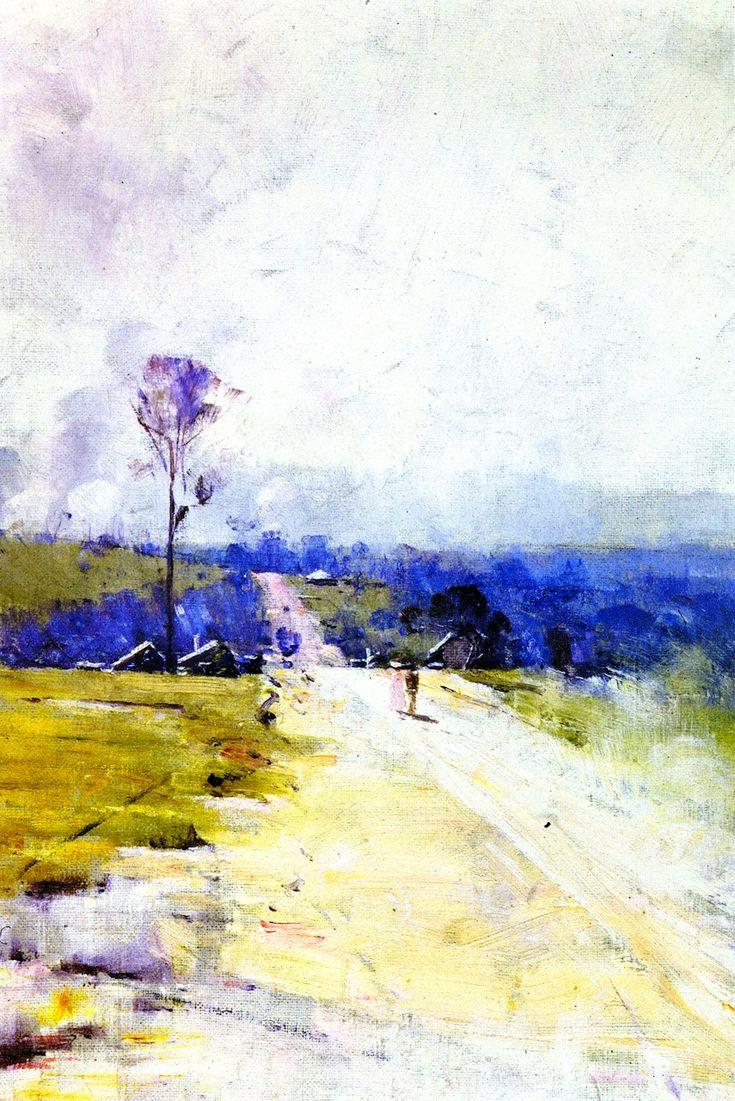 The Athenaeum - The Australian Road (Sir Arthur Streeton - 1896)