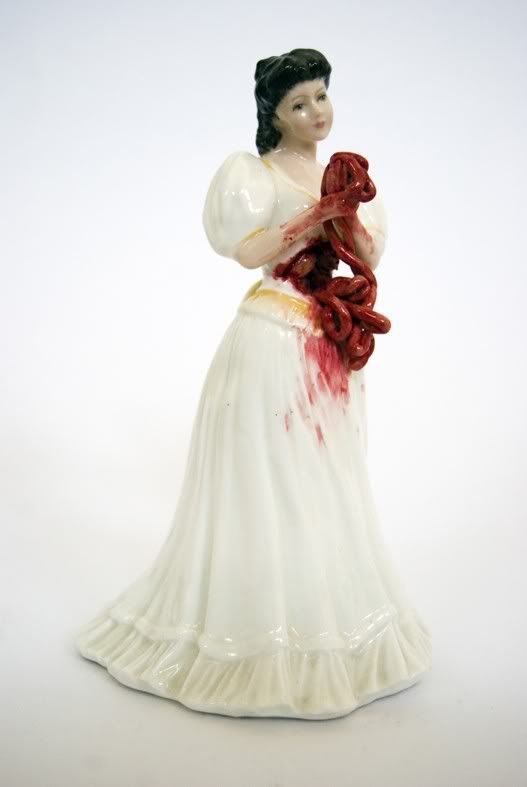 "Jessica Harrison's ""Breaking"" Series - breaking the convention of the porcelain figurine"
