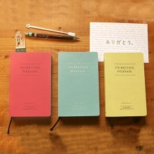Beautiful soft leather note books in gentle pastel colours - perfect for any idea!
