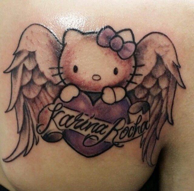 My hello kitty angel memorial tattoo