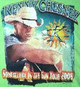 Kenny Chesney t-shirt - Somewhere In The Sun Tour in a size 2XL. The shirt is made from 100% pre-shrunk cotton and is in mint condition. It features graphics on the front and back. You had to be at the show to score this authentic Kenny Chesney concert t-shirt.