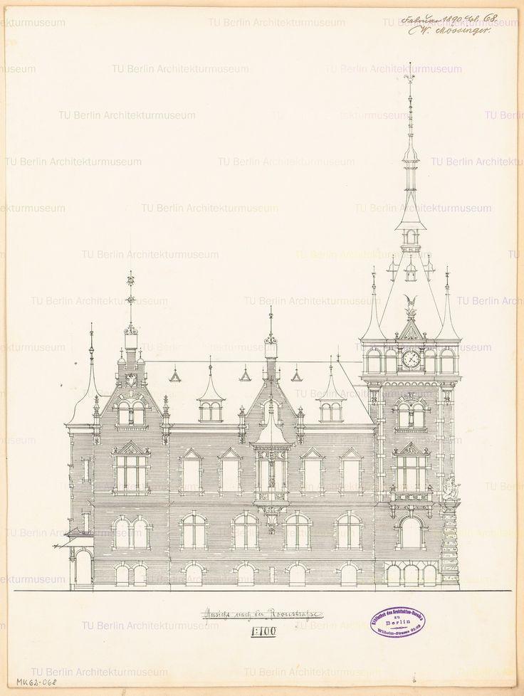 Titel   Rathaus Wilhelmshaven. Monatskonkurrenz Februar 1890 | Mössinger…
