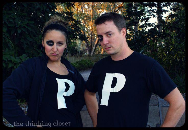 """The Black-Eyed Peas"", A Last-Minute Halloween Costume...plus 20 other Punny Halloween Costume Ideas via thinkingcloset.com"
