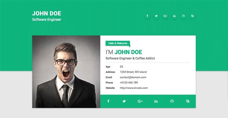 Resume Website Template 15 Best Html Resume Templates For Awesome