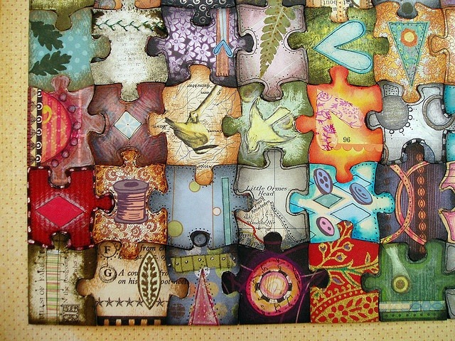 puzzle pieces = bulliton board, collaboration, to do at open house?