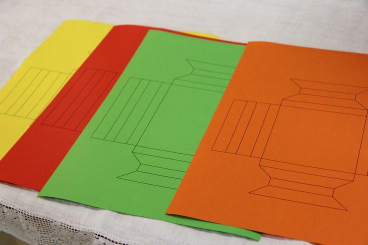Letölthető origami képkeret sablon