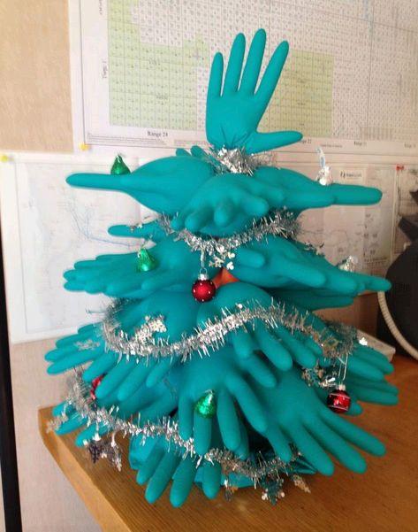 medical glove Christmas trees