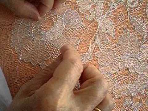 Needle lace. This is interesting to watch. Long hours made for expensive lace.
