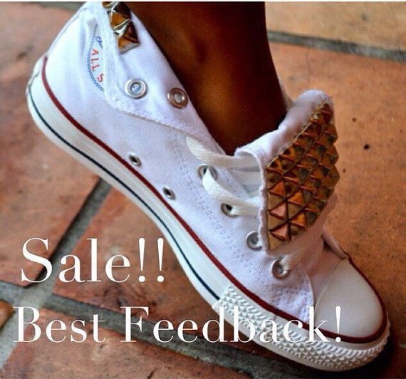 Studded Converse Chuck Taylor All Star Shoes by LoveChuckTaylors