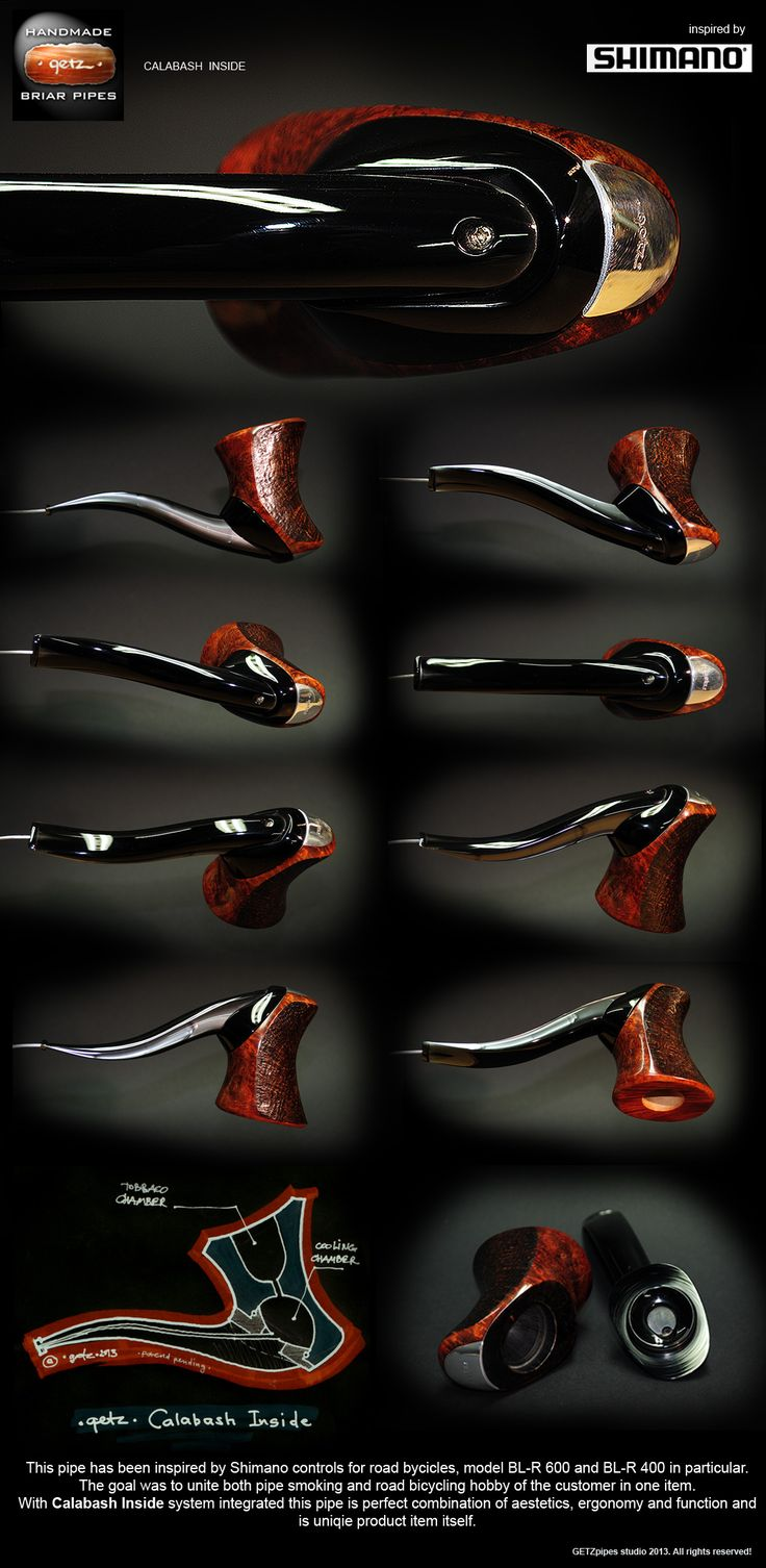 Awesome idea for calabash type pipe! GETZpipes studio - handmade smoking briar pipes and accessories.