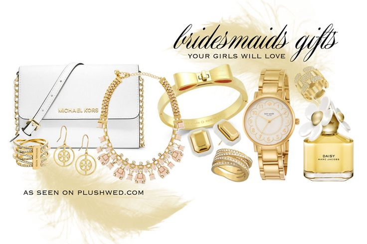 Plushwed Picks: Gold Accessories for your bridesmaids // www.PlushWed.com // Toronto Wedding Blog // Bridesmaids Gift Ideas // Gifts for your bridesmaids // Kate Spade // Michael Kors // Tory Burch // Swarovski // Marc jacobs