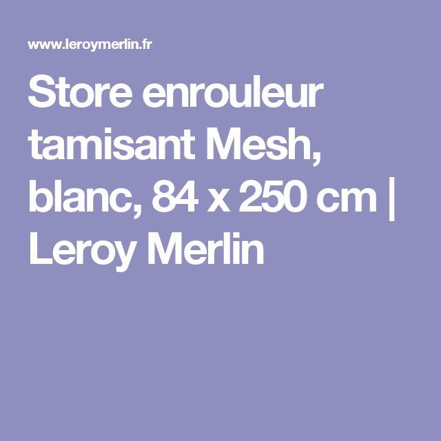 Store Enrouleur Tamisant Mesh Blanc X Cm Leroy Merlin With Store Bambou  Exterieur Leroy Merlin With Store Enrouleur Exterieur Leroy Merlin