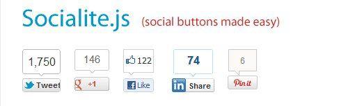 Socialite permite una carga más rápida de los botones de redes sociales en tu blog