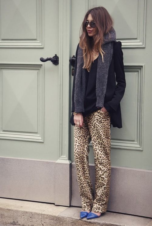 silk leopard pajama inspired pants