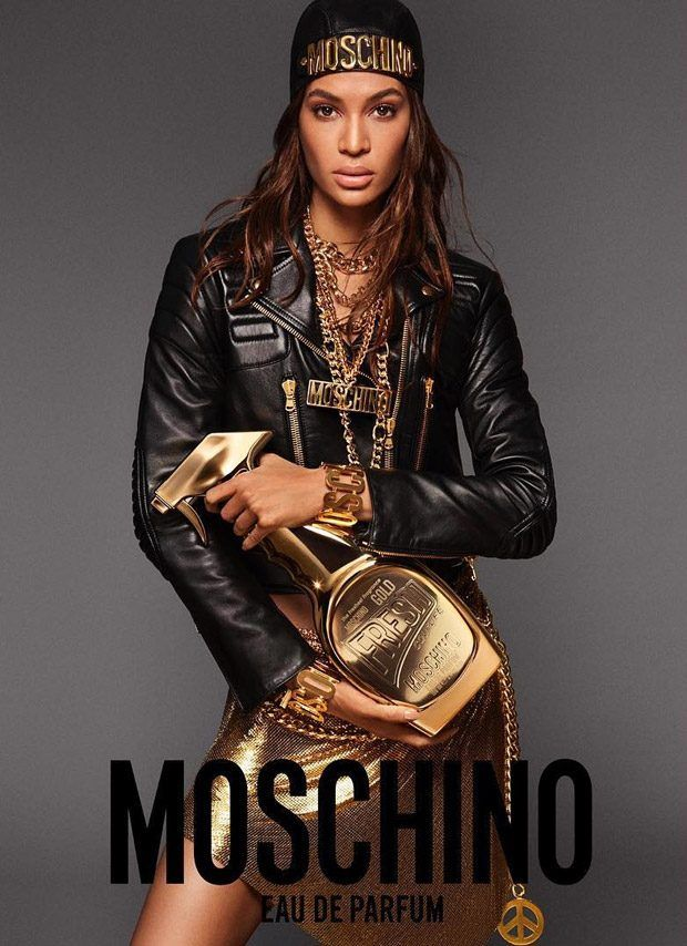 Joan Smalls is the Face of Moschino Fresh Couture Gold Fragrance
