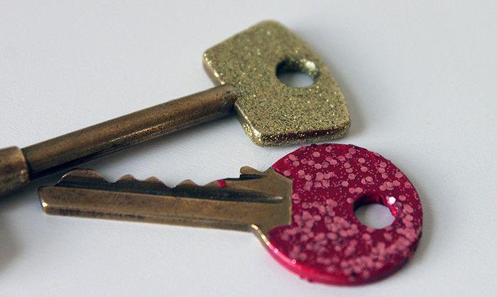 Glitter sleutels