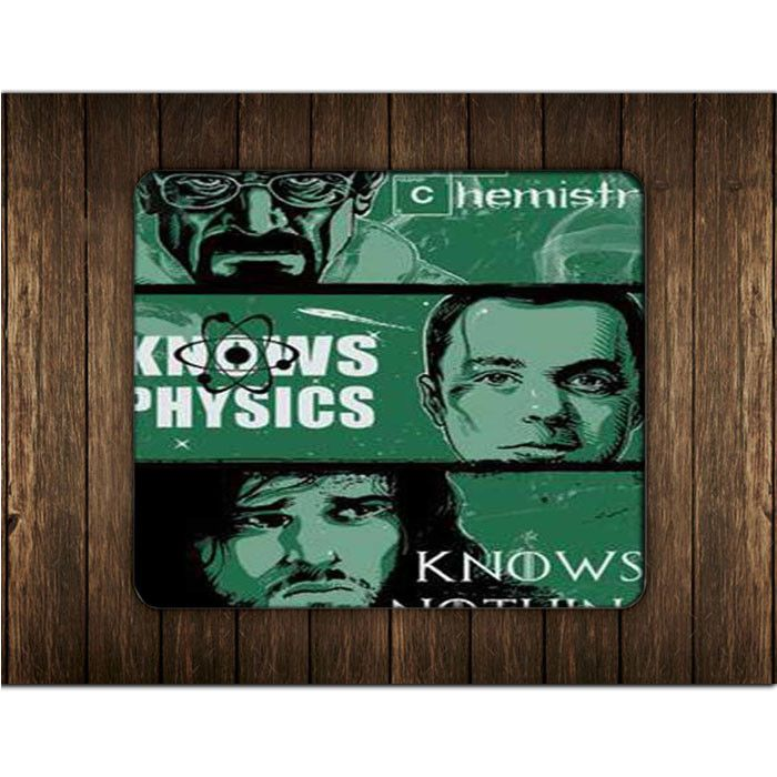 BREAKING BAD VS BIG BANG THEORY VS GAME OF THRONES KNOWS CHEMISTRY PHYSICS MOUSE PADS